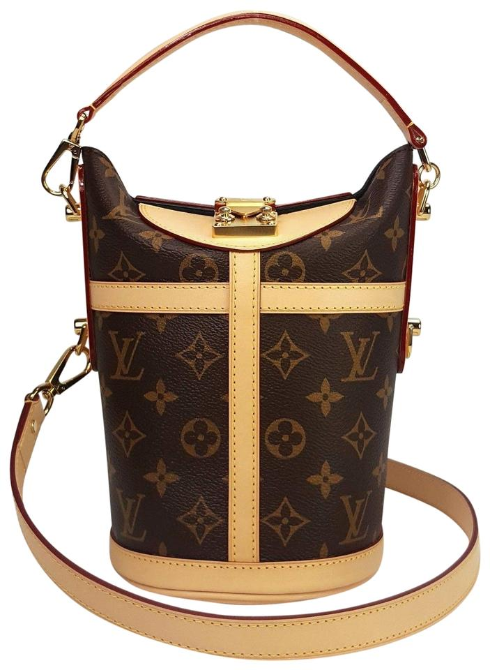 Louis Vuitton Duffle Monogram Boite Chapeau Trunk M43587 Brown Canvas Leather Shoulder Bag