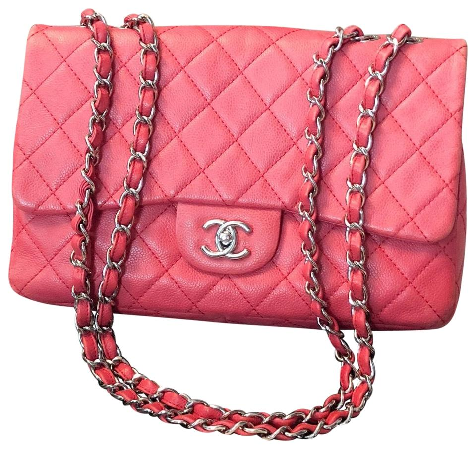 c2ab86b4c54b Chanel Classic Flap Jumbo Limited Color Coral Caviar Leather ...