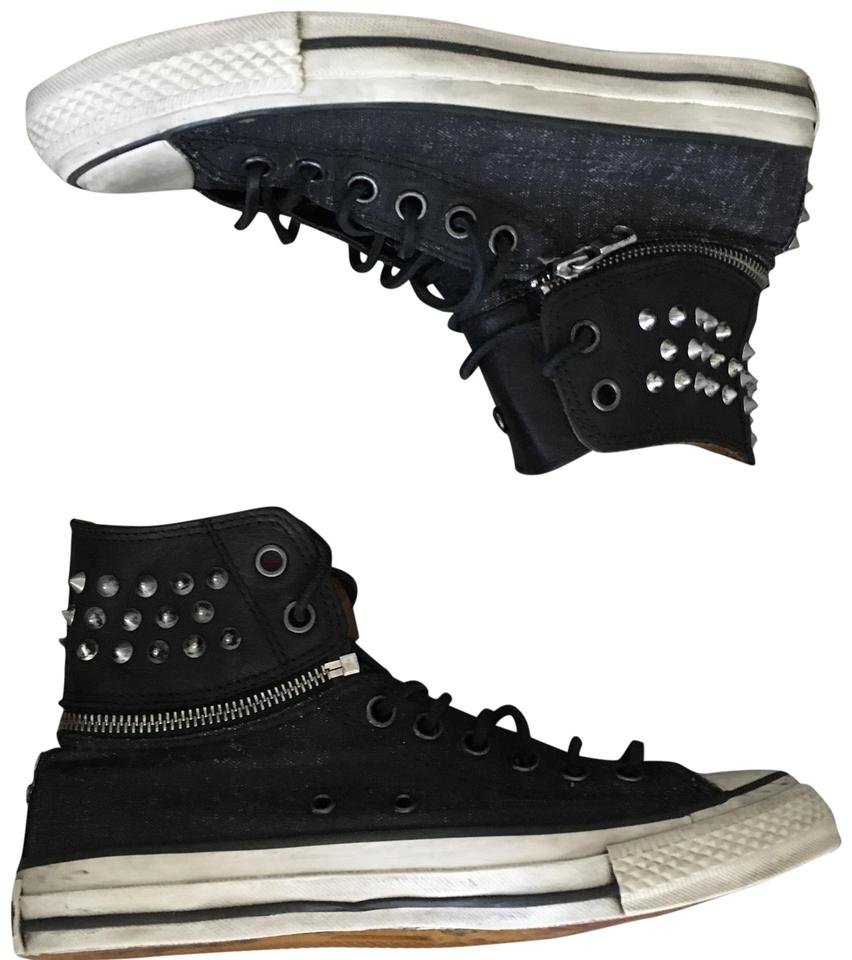 fce2dfffe1ee Converse Black Gray Silver Chuck Taylor All Star John Varvatos High Zip-off  Sneakers