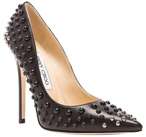 Jimmy Choo Pointed Toe Formal Party Beaded Stiletto Black Pumps