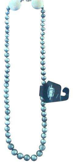 Preload https://item3.tradesy.com/images/b-moss-grey-long-chunky-bead-necklace-2355697-0-0.jpg?width=440&height=440