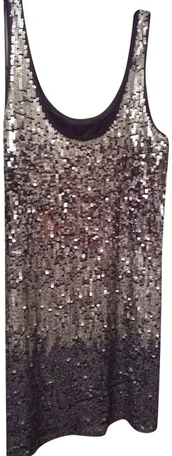 Item - Silver Sequin Short Night Out Dress Size 4 (S)