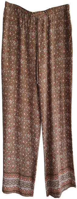 Item - Multi-color Paisley Drawstring Wide Leg Relaxed-fit Style No. 4704c01a Pants Size 6 (S, 28)