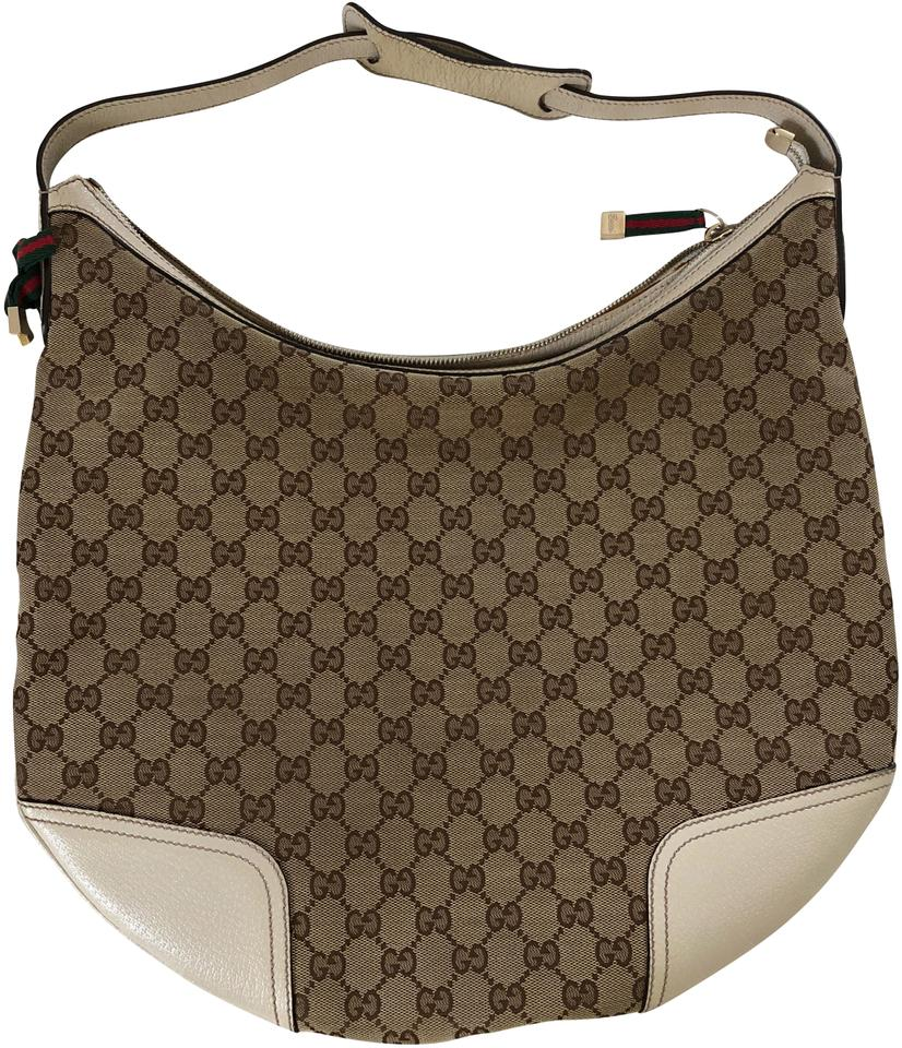 1337960d0 Gucci Large Princy Gg Monogram In White/Ivory White/Beige Canvas Hobo Bag