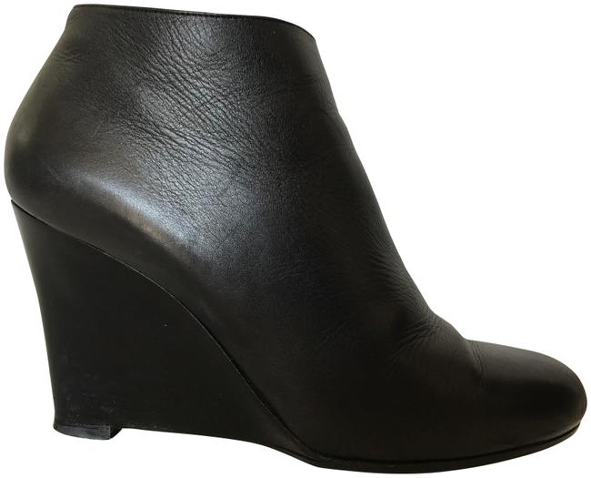 Christian Louboutin Black Leather Wedge High Heel Lady Red Sole Zipper Toe Ankle Italy Boots/Booties Size EU 39 (Approx. US 9) Regular (M, B) Christian Louboutin Black Leather Wedge High Heel Lady Red Sole Zipper Toe Ankle Italy Boots/Booties Size EU 39 (Approx. US 9) Regular (M, B) Image 1