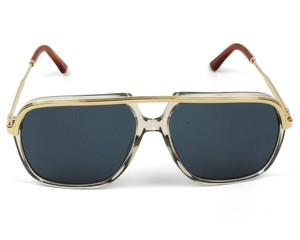 2096430d623 Gucci Crystal New Gg0200s Clear Gold Aviator Unisex Sunglasses - Tradesy
