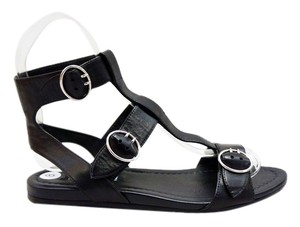 Prada Leather Gladiator Black Sandals