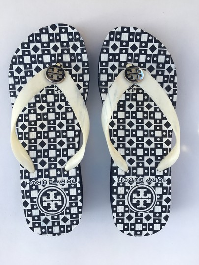 Tory Burch Navy Wedges Image 1