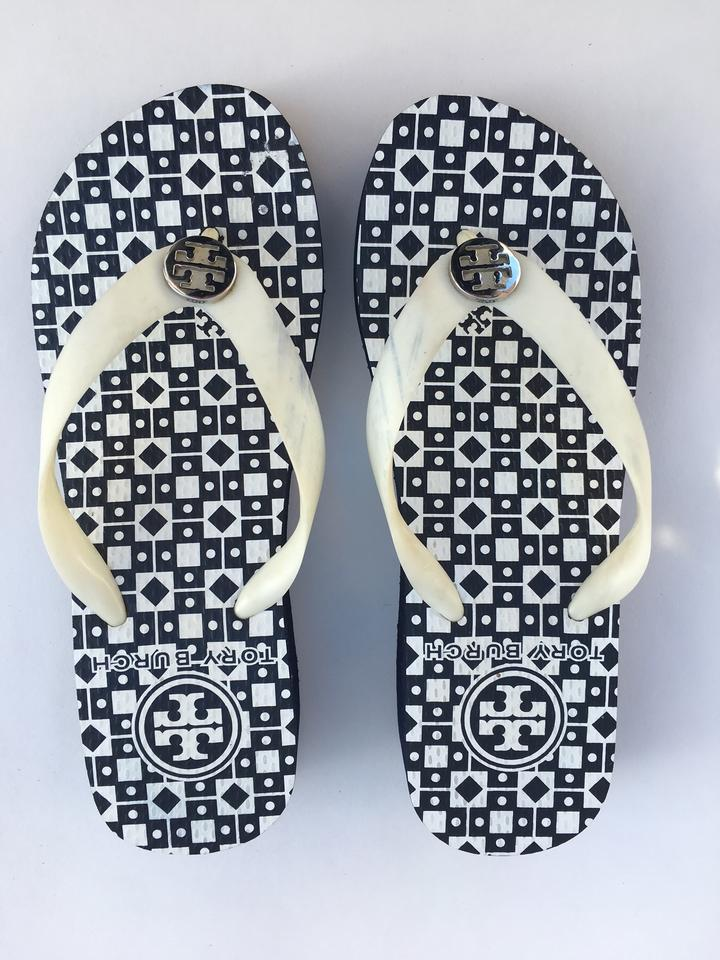4ce18cb7a Tory Burch Navy New Thandie Flip Flop Sandals Isidro Wedges Size US 6  Regular (M
