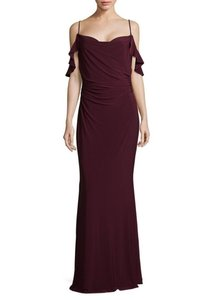 Laundry by Shelli Segal Cold Shoulder Prom Gown Dress