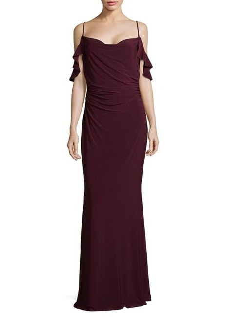 Preload https://img-static.tradesy.com/item/23557765/laundry-by-shelli-segal-deep-garnet-cowl-neck-cold-shoulder-knit-gown-long-formal-dress-size-12-l-0-0-650-650.jpg