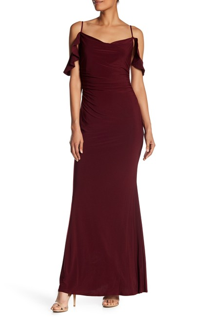 Laundry by Shelli Segal Cold Shoulder Prom Gown Dress Image 3