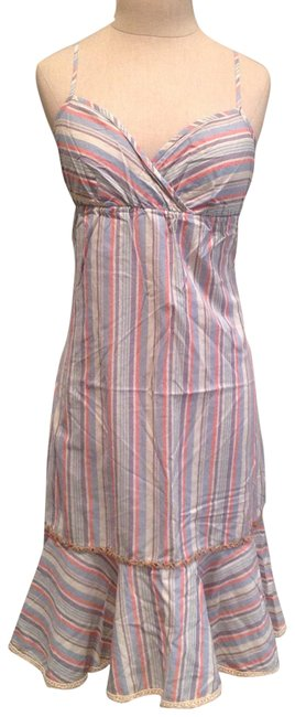 Item - Pastel Multi Stripe Long Casual Maxi Dress Size 0 (XS)