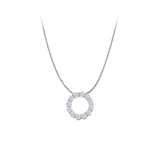 Preload https://img-static.tradesy.com/item/23557864/white-300-carat-cubic-zirconia-circle-pendant-gold-necklace-0-0-540-540.jpg