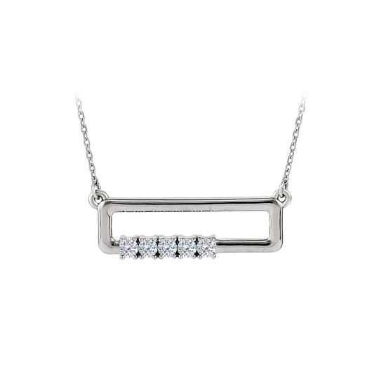 Preload https://img-static.tradesy.com/item/23557905/white-4-stone-cz-rectangle-for-mother-14k-gold-necklace-0-0-540-540.jpg