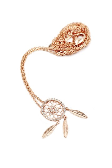 Ocean Fashion 925 Rose gold Fashion Dreamcatcher Crystal Necklace Image 1