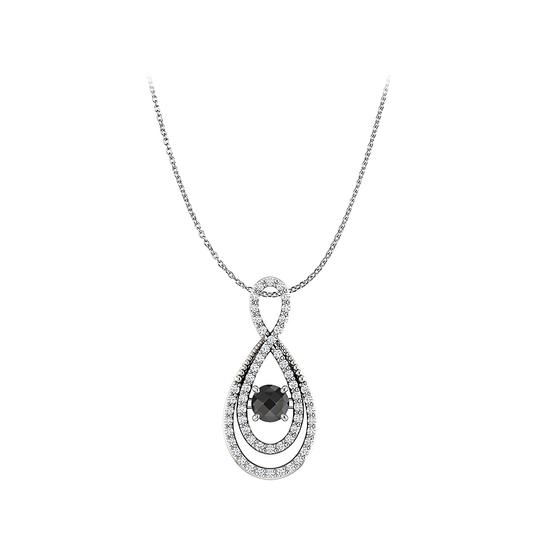 Preload https://img-static.tradesy.com/item/23557924/black-white-gold-onyx-cubic-zirconia-infinity-pendant-necklace-0-0-540-540.jpg