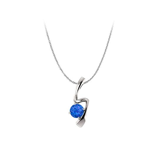 Preload https://img-static.tradesy.com/item/23557935/blue-white-gold-brilliant-cut-sapphire-freeform-pendant-in-14k-necklace-0-0-540-540.jpg