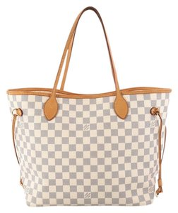 Louis Vuitton Neverfull Damier Tote in Beige