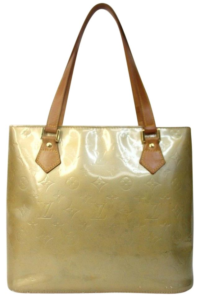 Louis Vuitton Houston Tote Yellow with Brown Vernis Shoulder Bag 89% off  retail 0d91684a3cd74