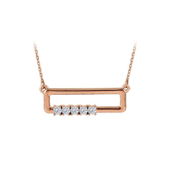 Preload https://img-static.tradesy.com/item/23557987/white-rose-gold-cubic-zirconia-rectangle-for-mother-14k-necklace-0-0-540-540.jpg