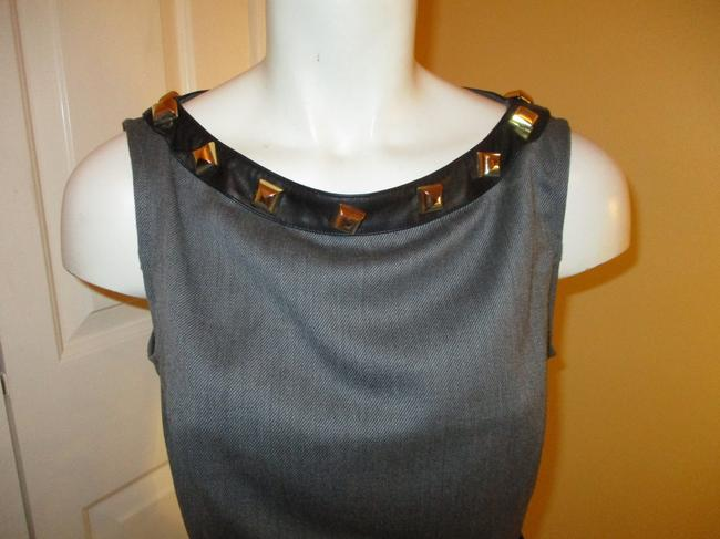 Love Moschino Studded Leather Sleeveless Night Out Dress Image 1