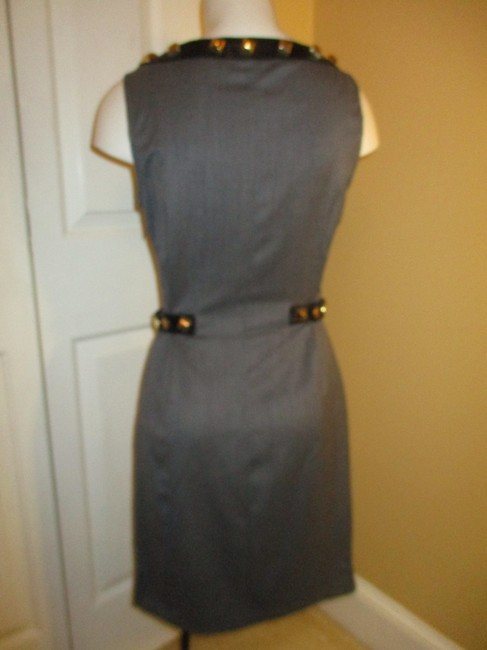 Love Moschino Studded Leather Sleeveless Night Out Dress Image 7