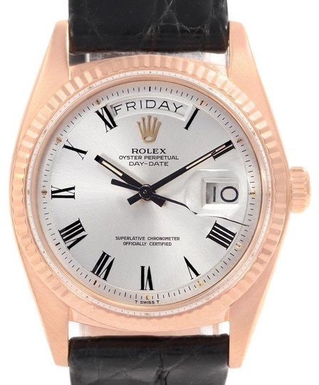 Preload https://img-static.tradesy.com/item/23558309/rolex-silver-president-day-date-18k-rose-gold-buckley-dial-mens-1803-watch-0-1-540-540.jpg