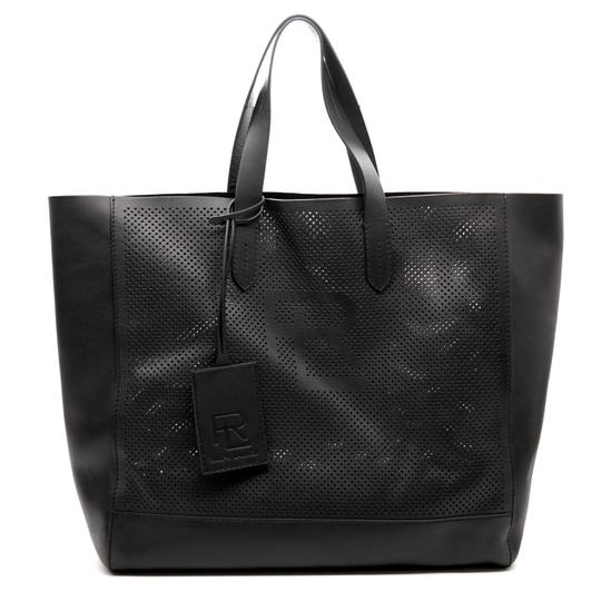 Preload https://img-static.tradesy.com/item/23558310/ralph-lauren-collection-easy-perforated-black-leather-tote-0-0-540-540.jpg