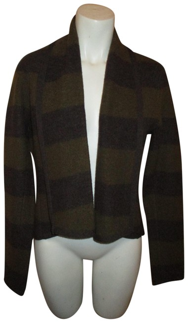Item - Brown and Olive Green Wool Jacket Blazer Size 8 (M)