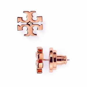 Tory Burch New! Tory Burch Logo Stud Earrings in Rose Gold