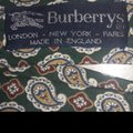 Burberry Silk Paisley Design Colors Green Cream Red Blue 60 In X 4 In Nwot Tie/Bowtie Image 4