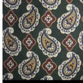 Burberry Silk Paisley Design Colors Green Cream Red Blue 60 In X 4 In Nwot Tie/Bowtie Image 5