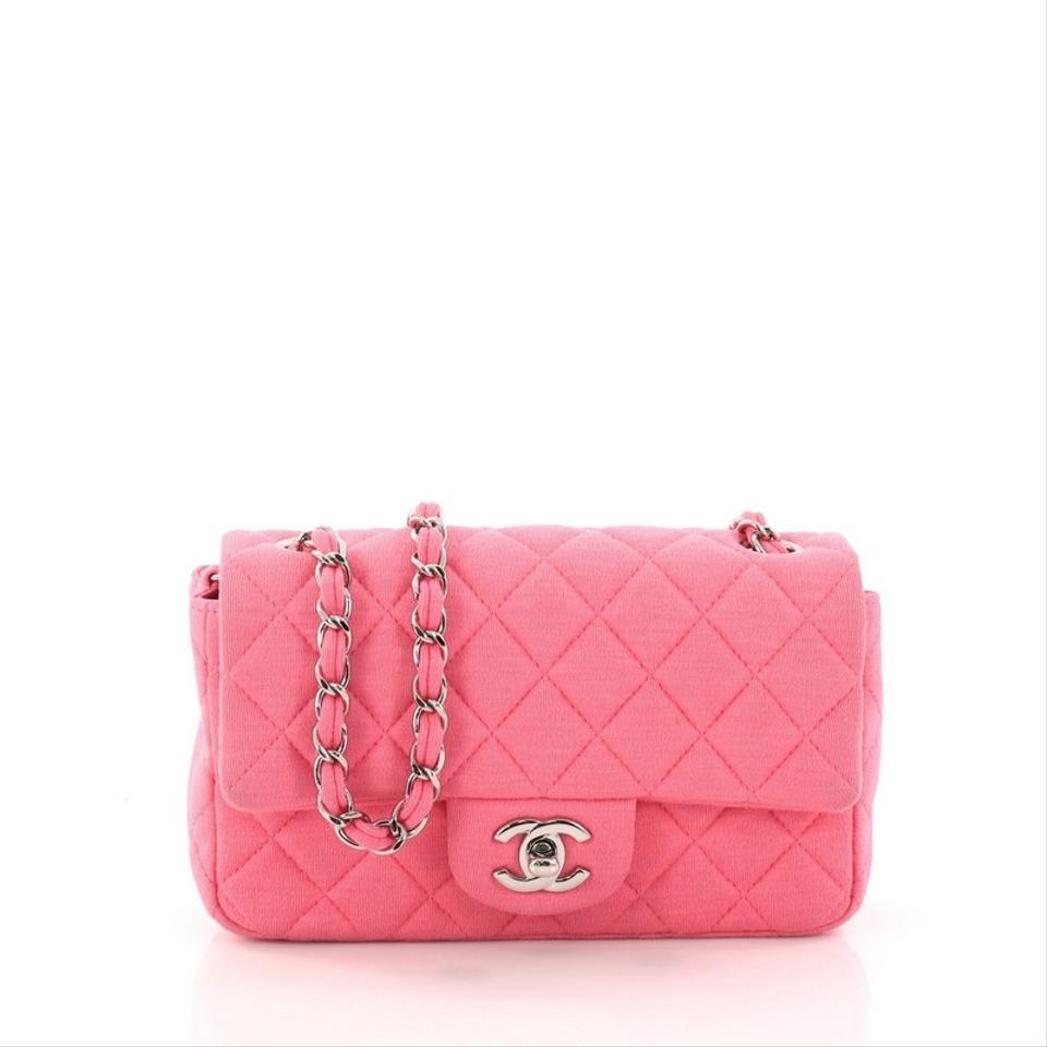 3523fca1ac18 Chanel Classic Flap Classic Single Quilted Mini Pink Jersey Shoulder ...