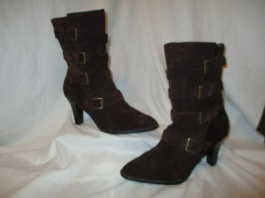 Colin Stuart Leather Suede Midcalf brown Boots Image 1