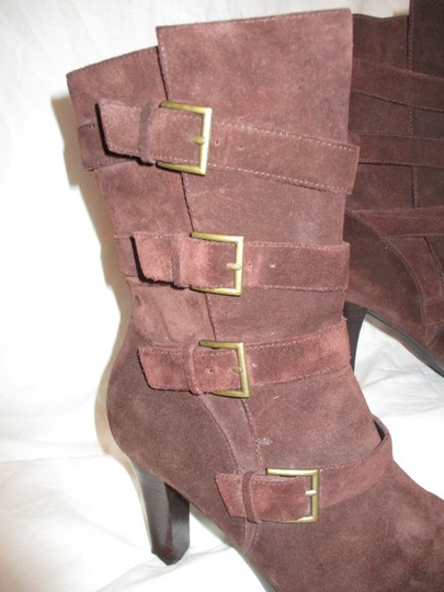 Colin Stuart Leather Suede Midcalf brown Boots Image 10