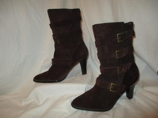 Colin Stuart Leather Suede Midcalf brown Boots Image 2