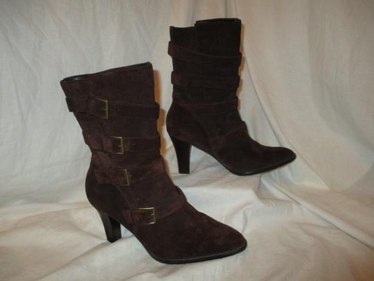 Colin Stuart Leather Suede Midcalf brown Boots Image 3