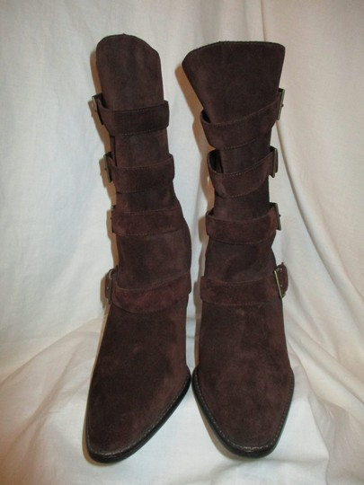Colin Stuart Leather Suede Midcalf brown Boots Image 4