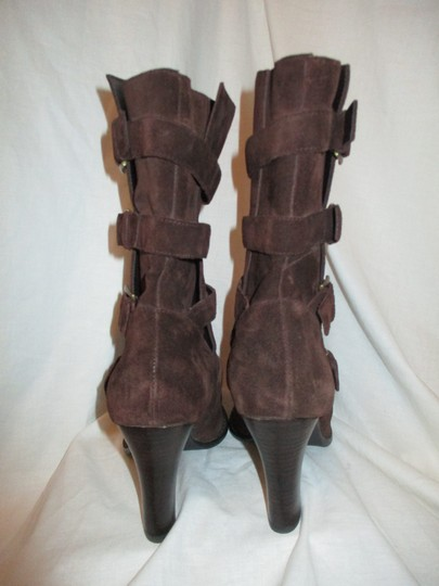 Colin Stuart Leather Suede Midcalf brown Boots Image 6
