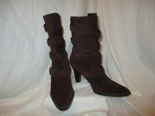 Colin Stuart Leather Suede Midcalf brown Boots Image 9