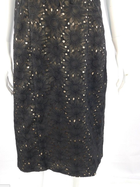Nicole Miller Floral Strapless Lace Sheath Formal Dress Image 5