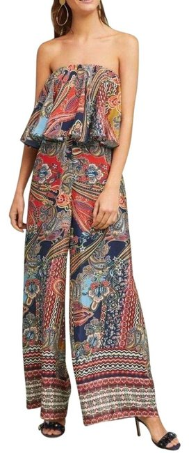 Item - Multi - Color Strapless Paisley By Ranna Gill Romper/Jumpsuit