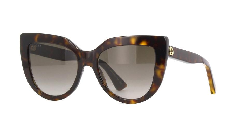 bf1b0f2ca31 Gucci Havana Brown Gg0164s 002 Cat Eye Frame Lenses Sunglasses - Tradesy