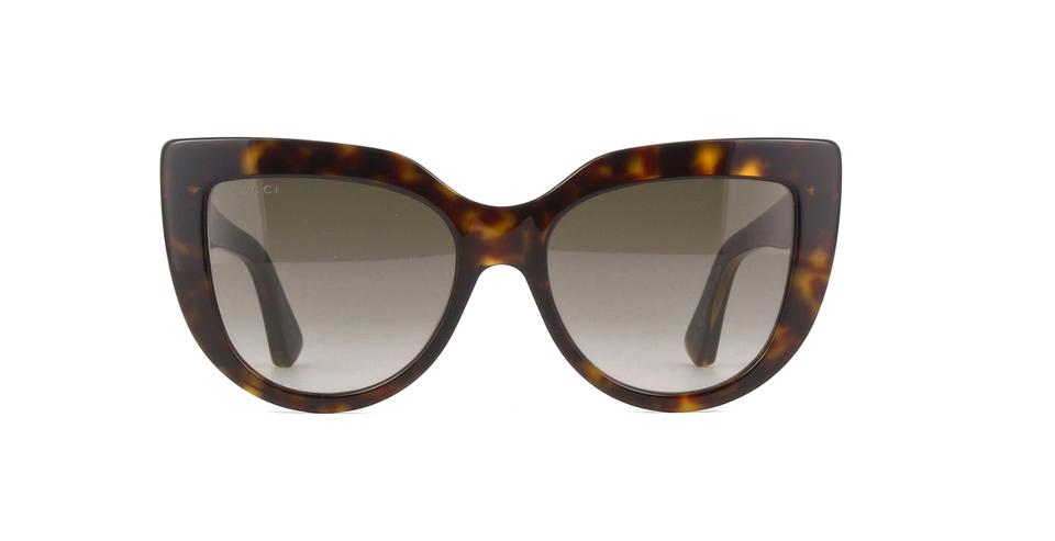 0ebfaded9a73a Gucci Gucci GG0164S 002 Cat Eye Sunglasses Havana Brown Frame Brown Lenses  Image 4. 12345