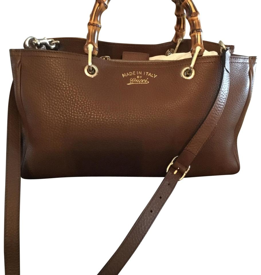 562756747d3 Gucci Bamboo Brown Leather Tote - Tradesy