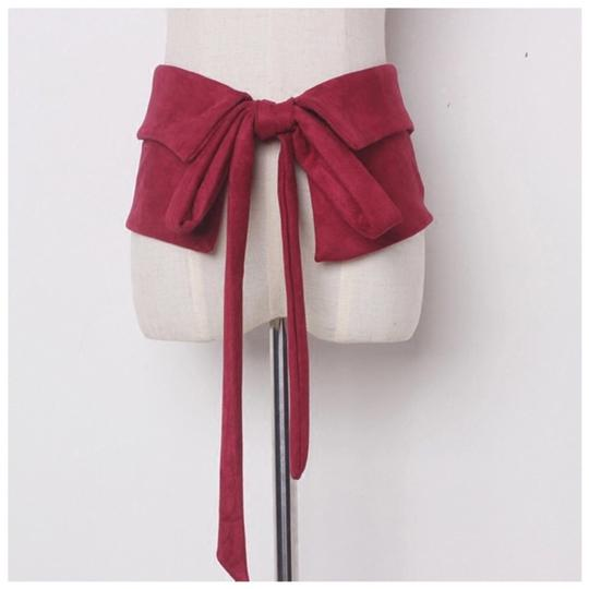 Preload https://img-static.tradesy.com/item/23558852/red-burgundy-microfiber-wide-tie-belt-0-0-540-540.jpg