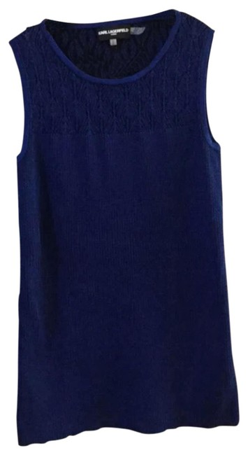 Preload https://img-static.tradesy.com/item/23558922/karl-lagerfeld-blue-sleeveless-ribbed-tank-topcami-size-8-m-0-1-650-650.jpg