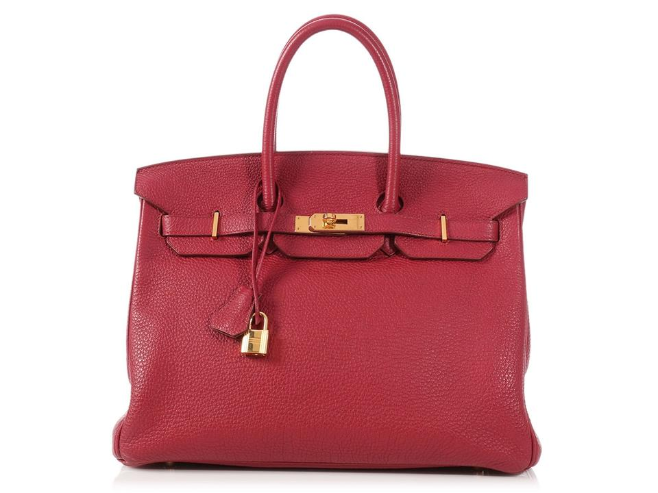 Hermès Ruby 35 Hr.p0517.08 Gold Hardware Reduced Price Satchel in Red ... a96173886