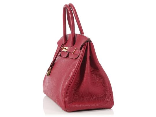 Hermès Ruby 35 Hr.p0517.08 Gold Hardware Reduced Price Satchel in Red Image 1